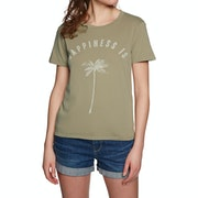 T-Shirt de Manga Curta Senhora Billabong Happiness Is