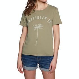 T-Shirt à Manche Courte Femme Billabong Happiness Is - Sage