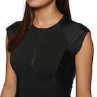 SWELL Short Sleeve 1/2 Zip Ladies Rash Vest