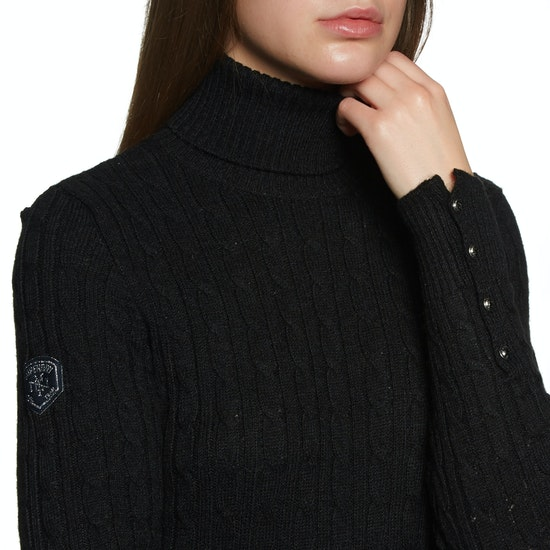 Superdry Croyde Roll Neck Cable Knit Womens Knits