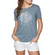 Roxy Red Lines Womens Short Sleeve T-Shirt