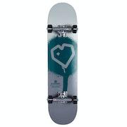 Blueprint Spray Heart 7.5 Inch Complete Skateboard