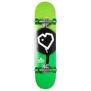 Blueprint Spray Heart 7 Inch Mini Complete Skateboard