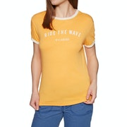 Billabong Ringer Dames T-Shirt Korte Mouwen