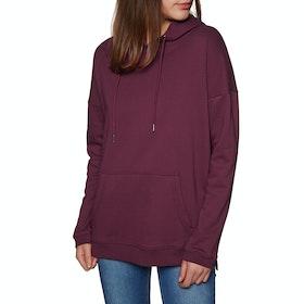 SWELL Hanover Longline Womens Pullover Hoody - Burgundy