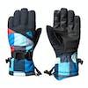 Quiksilver Mission Kids Snow Gloves - Dress Blue Check Atomic