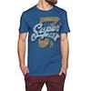 Superdry Super7 Tri Short Sleeve T-Shirt - Peppered Blue Grit