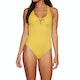 RVCA Solid Lace Front One Womens Swimsuit