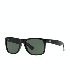 Ray-Ban Justin Sunglasses - Black ~ Green