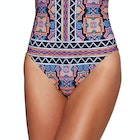 """Seafolly Sun Temple Deep """"v"""" Maillot Ladies Swimsuit"""