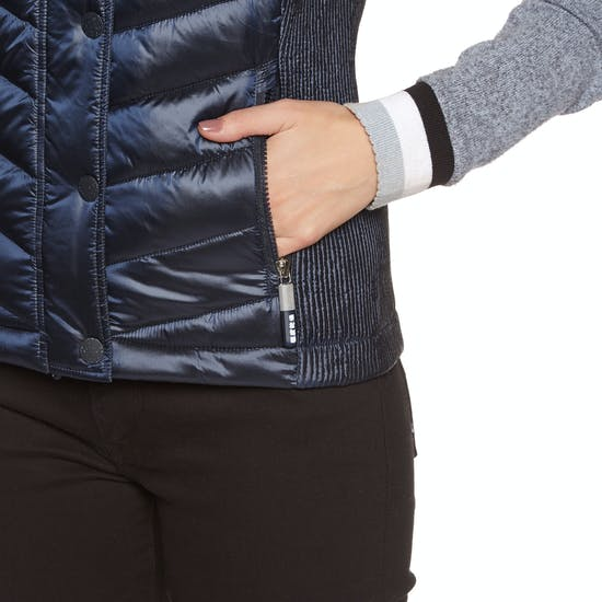 Superdry Luxe Chevron Double Zip Womens Body Warmer
