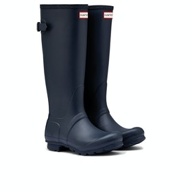 Hunter Original Back Adjustable Womens Wellies - Navy