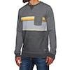 Rip Curl Yarn Dyed Stripe Crew Fleece Sweater - Dark Marle