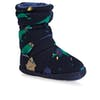 Joules Padabout Boys Slippers - French Navy Dinosaur