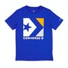 Converse Star Chevron Box Boys Short Sleeve T-Shirt - Blue