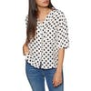 Levi's Meiko Womens Short Sleeve Shirt - Polka Dot Cloud Dancer