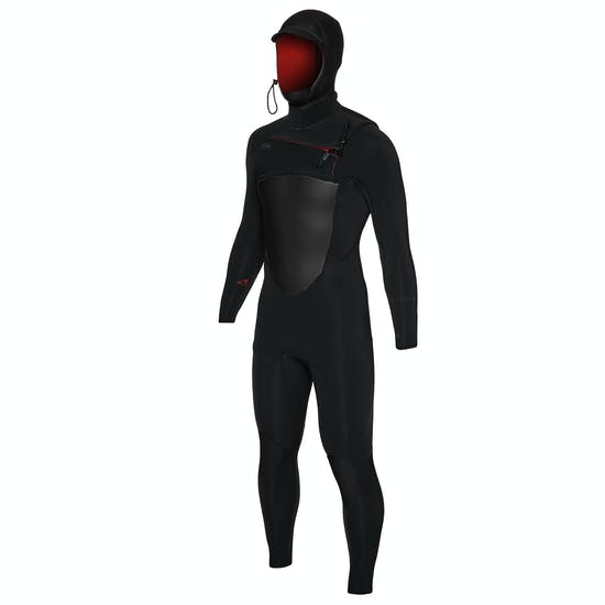 Xcel Drylock 5/4mm Chest Zip Hooded Wetsuit