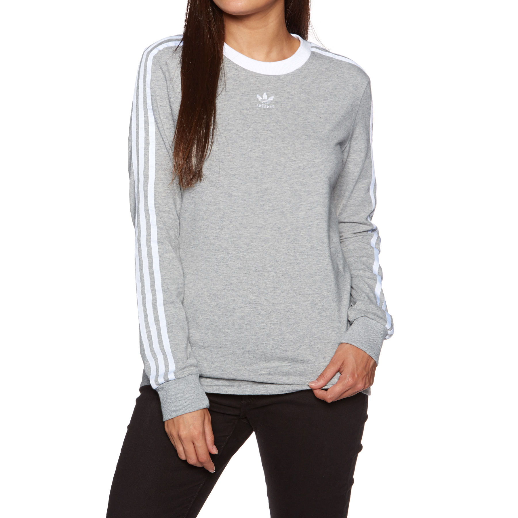adidas 3 stripe sweatshirt womens