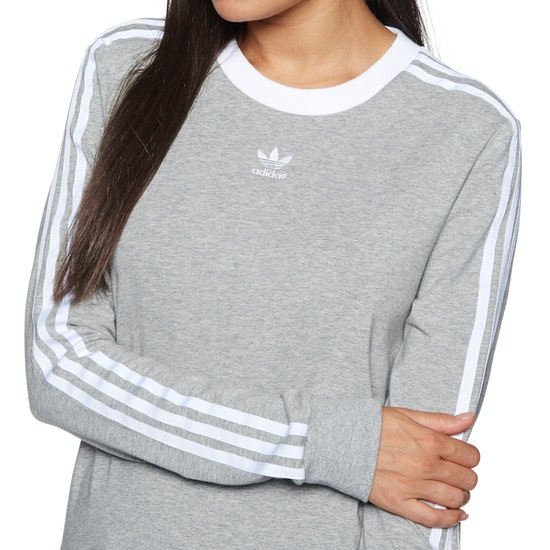 Adidas Originals 3 Stripes Womens Long Sleeve T-Shirt