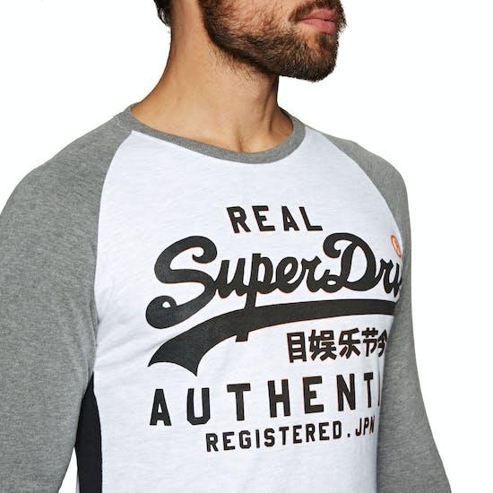 Camiseta de manga larga Superdry Vintage Logo Panel Raglan