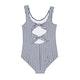 Vestimenta de natación Girls Seafolly Ocean Tapestry Stripe Tie Back Tank