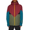 Giacca Snowboard Adidas Snowboarding Premiere Riding - Base Green Noble Maroon Real Teal Collegiate Gold