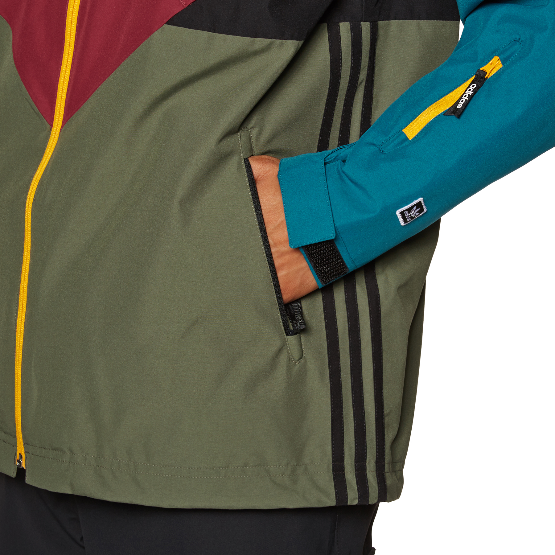 Details about adidas Premiere Riding Snow Jacket Base Green