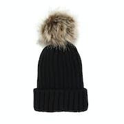 Solta Knitted Faux Fur Pom Womens Beanie