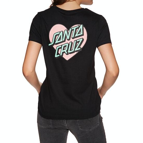 Santa Cruz Heart Dot Womens 半袖 T シャツ