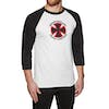 Independent Stage Baseball Top Long Sleeve T-Shirt - White Black