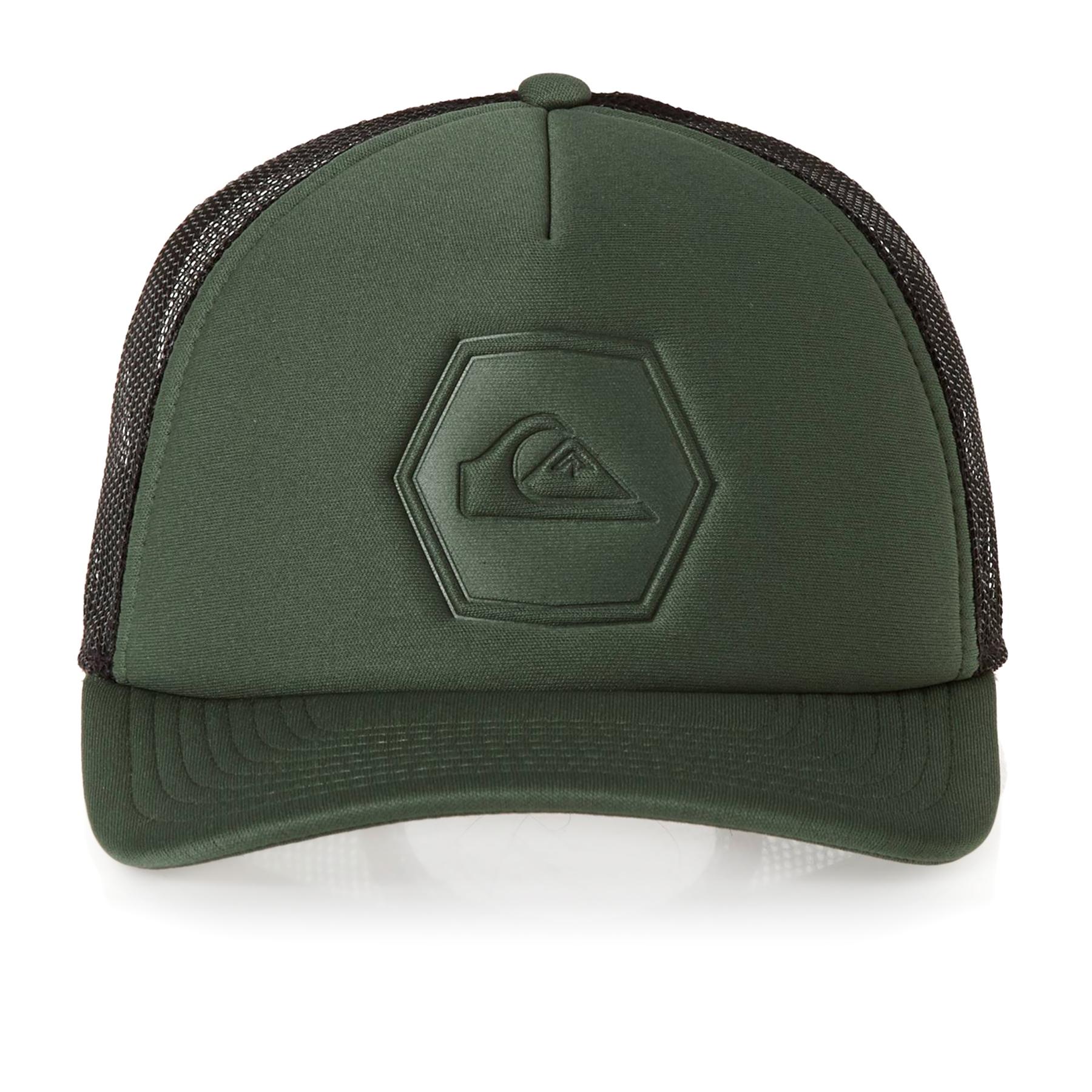 Boys Caps Black Quiksilver Decades Cap