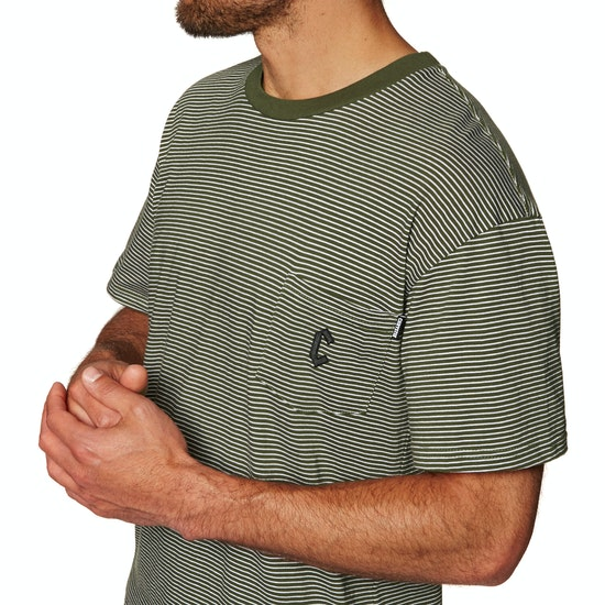 T-Shirt de Manga Curta Chrystie Stripe Pocket