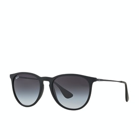 Ray-Ban Erika Sunglasses - Rubber Black ~ Light Grey Gradient Dark Grey