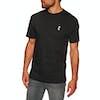 Chrystie C Logo Embroidery Short Sleeve T-Shirt - Black