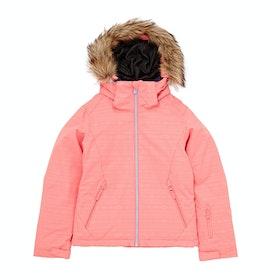 Roxy Jet Ski Embossed Girls Snow Jacket - Shell Pink