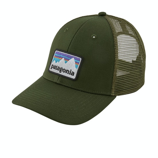 Patagonia Shop Sticker Patch Lopro Trucker Cap