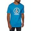 Volcom Crisp Stone Short Sleeve T-Shirt - Cyan Blue