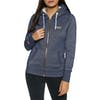 Superdry Orange Label Sparkle Borg Dames Hoody met Rits - Sparkle Navy Marl