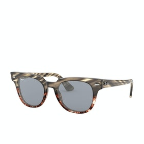 Ray-Ban Meteor Sunglasses - Grey Gradient Brown Stripped~blue Mir Gold Blue