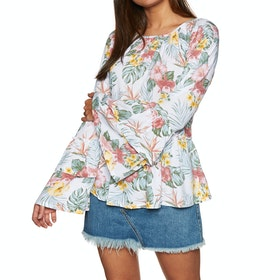 SWELL Billie Flare Blouse Womens Top - Floral