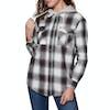 SWELL Hooded Damen Hemd - Black Check