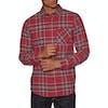 Volcom Caden Plaid Shirt - Burgundy