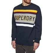 Superdry Applique Weekend Cut and Sew Crew Trui