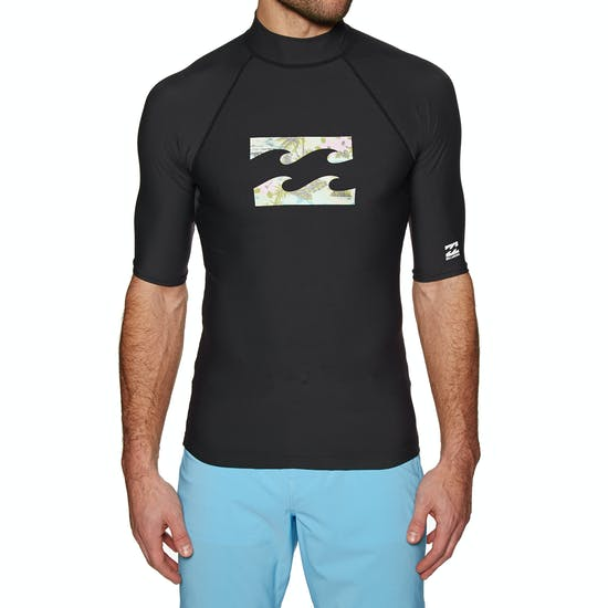 Billabong Team Wave Short Sleeve Mens Rash Vest