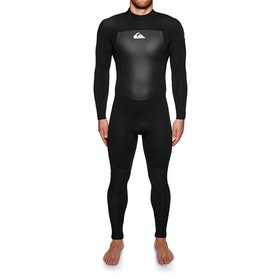 Quiksilver Prologue 4/3mm Back Zip Wetsuit - Black