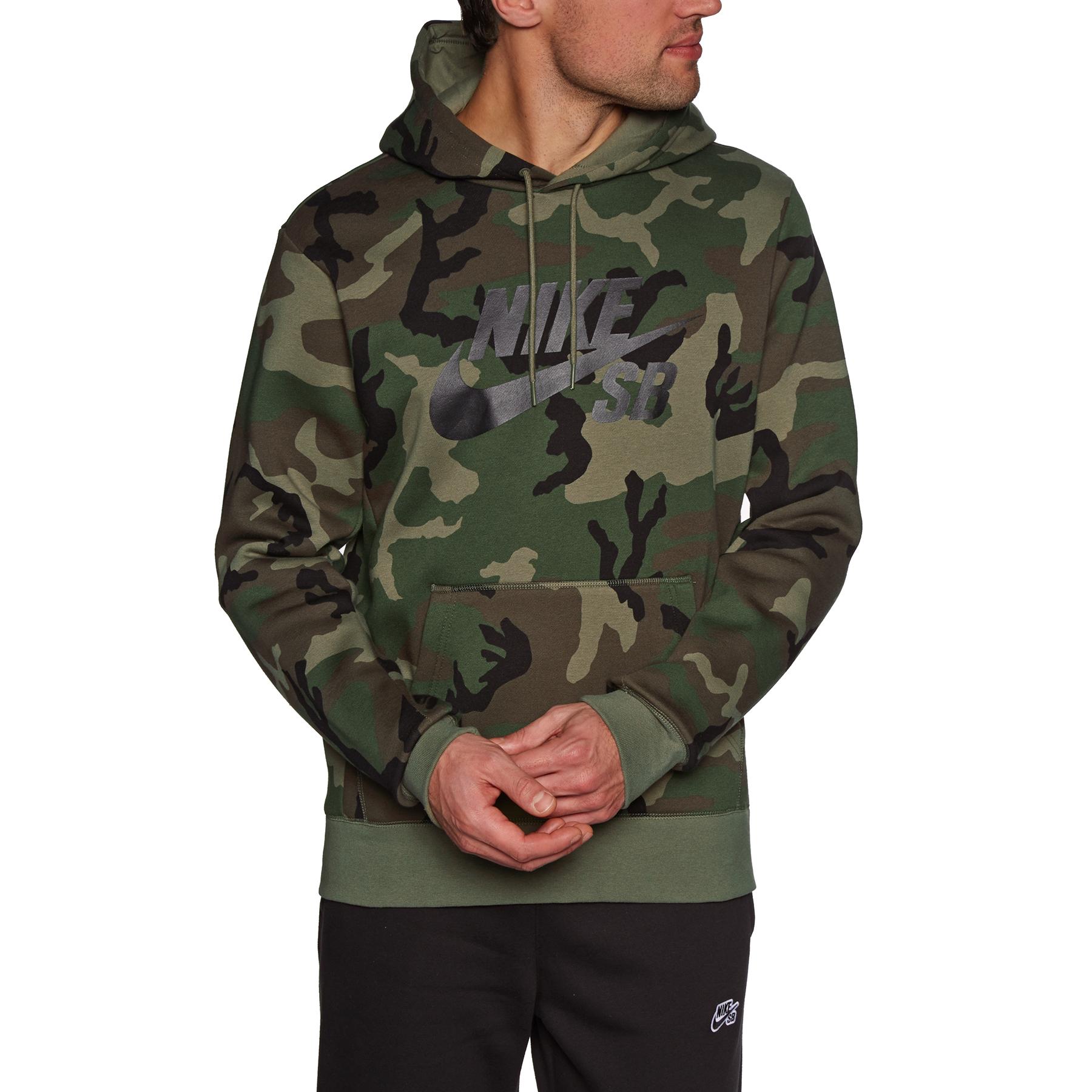Pullover à Capuche Nike SB Icon Erdl Camo | Livraison gratuite dès 30€ d'achat en France* sur Surfdome