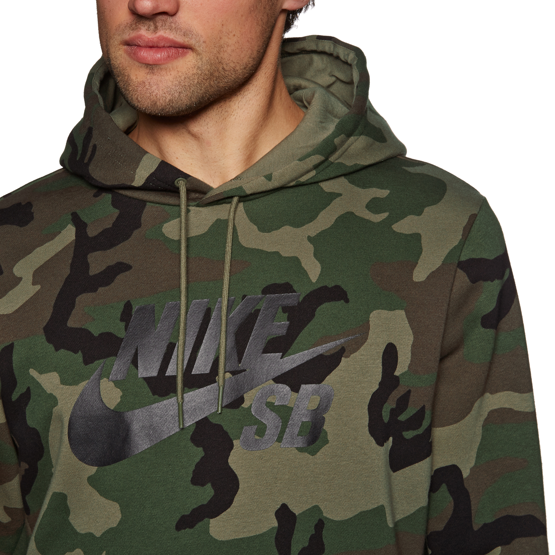 Sweat à Capuche Nike SB Icon Medium Khaki Camo |