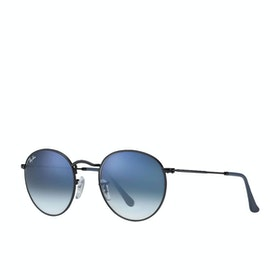 Ray-Ban Round Metal Sunglasses - Black~violet