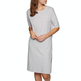 SWELL Grant Essential Dress - Navy White Stripe