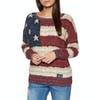 Superdry Americana Cable Knit Womens Knits - Navy/burnt Red/ecru